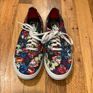 Bedazzled Jewel Slim Vans Rainbow Colors